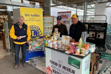 Perchtoldsdorfer Lions sammelten Lebensmittel für Bedürftige